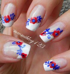 NaomiBlog avagy Noémi körmei: Palóc mintás köröm. Hungarian nail, folk nail, hungarian folk nail,