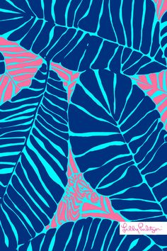 Lilly Pulitzer Under the Palm iPhone wallpaper