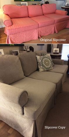 What Is A Slipcover Copy? Itu0027s A New Slipcover I Make By Replicating Your  Old One. I Take Apart Your Old Slipcover And Use It As A Pattern To Cut And  Sew ...