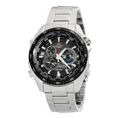 Casio Mens EQS500DB-1A1 Edifice Stainless Steel Multi-Function Chronograph Watch