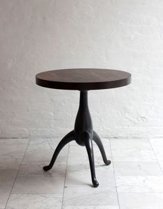 """FURNITURE   CHALL SIDE TABLE from BDDW  23""""dia, 25' h"""