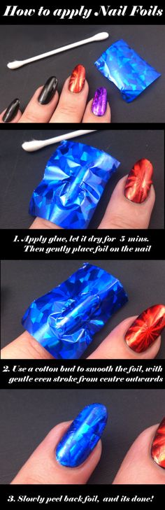 How to apply nail foils - using Epic Nail foil transfers #nailart #nails #howto
