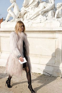 that is quite the fur #CarineRoitfeld. Paris.