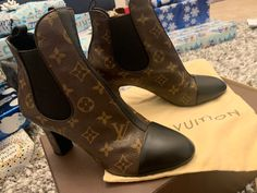 louis vuitton boots on Mercari Louis Vuitton Boots, Leather Booties, Character Shoes, Dust Bag, Dance Shoes, Booty, Short Boots, Bags, Fashion