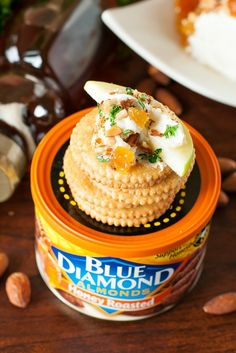 Honey, Apricot, and Almond Goat Cheese Spread :: this easy, cheesy appetizer takes only a few minutes to make!