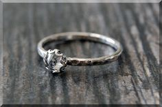 Cubic Zirconia Ring READY TO SHIP Size 6.75 by thewrappedpixie