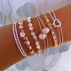 Rose Gold Everything II Stack - jewelry necklaces, diamond jewellery designs, online fashion jewellery *sponsored https://www.pinterest.com/jewelry_yes/ https://www.pinterest.com/explore/jewelry/ https://www.pinterest.com/jewelry_yes/personalised-jewellery/ https://www.windsorstore.com/category/Jewelry