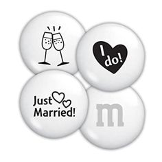 GiftFeed: Just Married Personalized M&M'S Edible Wedding Favors, Best Wedding Favors, Wedding Ideas, Candy Favors, Bulk Candy, M&s Chocolates, Personalized Candy, Bachelorette Party Gifts, Before Wedding