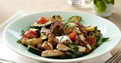 Healthy Sauteed Mediterranean Vegetables Recipe. Healthy lunch or light dinner.