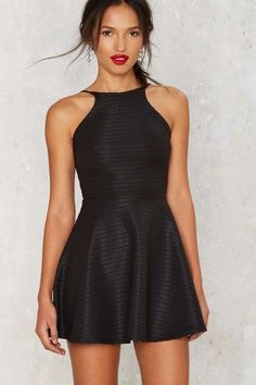 In the Slick of It Fit & Flare Mini Dress | Shop Clothes at Nasty Gal!