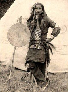 1898 Little Finger, Sioux Warrior.... by Gertrude Kasebier.