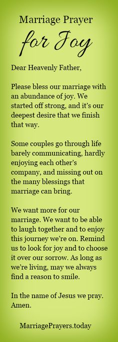 A marriage prayer fo