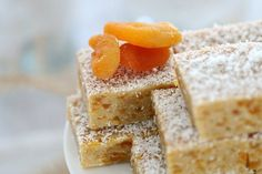 Apricot Coconut Slice (No-Bake) - Bake Play Smile No Bake Desserts, Dessert Recipes, No Bake Slices, Coconut Slice, Small Cake, Tray Bakes, Sweet Recipes, Yummy Recipes, Afternoon Tea