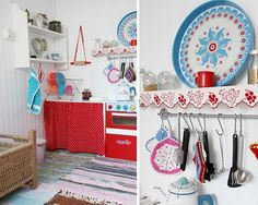 Vintage inspired play kitchen and house by MayaLee