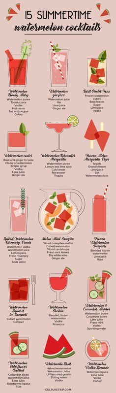 15 Summertime Watermelon Cocktails to Impress Your Friends|Pinterest: @theculturetrip
