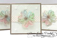 A La Pause: Cartes 3x3 Flower Shop Marie-Josée Trudel Stampin Up