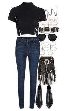 """""""Untitled #8686"""" by nikka-phillips ❤ liked on Polyvore featuring NARS Cosmetics, 3.1 Phillip Lim, B-Low the Belt, Marc by Marc Jacobs, Forever 21, Cheap Monday, Glamorous, Acne Studios, Yves Saint Laurent and women's clothing"""