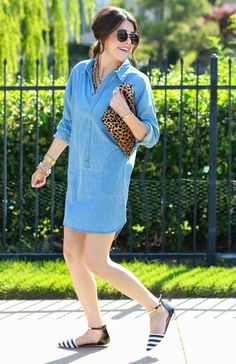 The Sweetest Thing: A Chambray Shirt Dress