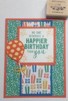 Occasions catalog Luv 2 Stamp group Balloon Adventures birthday card by Michelle, Supplies from Stampin Up!