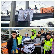 #Ahora Colombia como Venezuela. Estudiantes no pueden reclamar las oscuras amistades a Santos porq interviene Policia pic.twitter.com/scIEChjowk