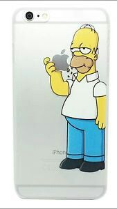 Autocollant portable apple HOMER:SIMPSON