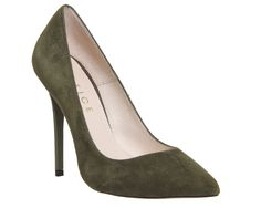 Buy Khaki Kid Suede Office On To Point Court Heels from OFFICE.co.uk.