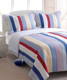 Look what I found on #zulily! Prairie Stripe Quilt Set by Greenland Home Fashions #zulilyfinds
