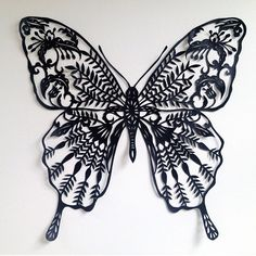 Black Butterfly Nouveau papercut