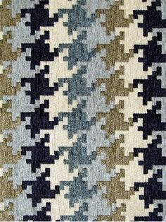Houndog Indigo Mix Houndstooth plaid fabric 100 poly soft texture chenille Perfect for upholstery pillows or dramatic heavy window panels Repeat H 7 5 - H 1 75 54 wide Fabric Textures, Textures Patterns, Fabric Patterns, Print Patterns, Houndstooth Fabric, Plaid Fabric, Print Wallpaper, Pattern Wallpaper, Pattern Design