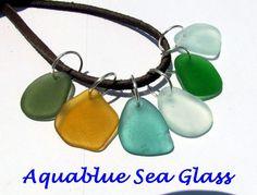6 Drilled  Sea Glass   PENDANTS Free  SHIPPING by aquablueseaglass, $21.99