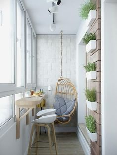 › Apartment furniture for small spaces. Stylish Apartment Redesign in Minsk. Small Balcony Design, Small Balcony Decor, Balcony Ideas, Balcony Decoration, Tiny Balcony, Balcony Plants, Balcony Garden, Balcony Bar, Balcony Railing