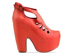 Jeffrey Campbell Cuffed in Coral at Solestruck.com