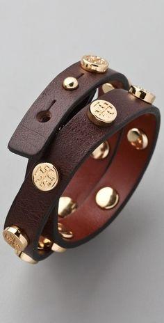 Tory Burch wrap bracelet. https://www.shopbop.com/double-wrap-logo-bracelet-tory/vp/v=1/845524441920249.htm?folderID=2534374302029428&fm=whatsnew-shopbysize-viewall&colorId=11409
