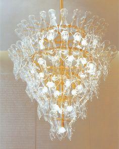 glass slipper chandelier