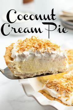 Fun Easy Recipes, Best Dessert Recipes, No Bake Desserts, Baking Pies, Cream Pie Recipes, Cheese Cakes, No Bake Pies, Coconut Recipes, Pie Dessert