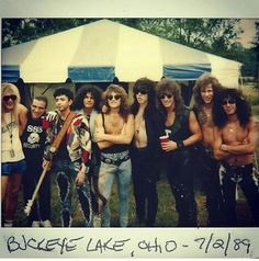"Bon Jovi with some other #80s #rockers  @loopyloujovi | Tumblr - ""Awesome"""