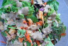 Leafy Apple Salad with Creamy Balsamic Dressing