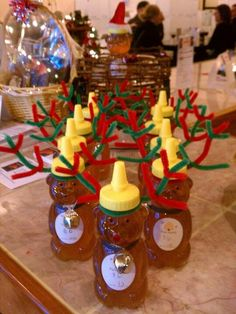 Emily brings the holiday flair to our honey bears