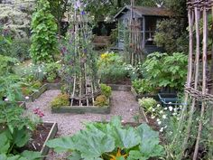 Jasmine Cottage, Somerset. The integration of vegetables in this cottage garden is truly lovely
