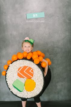 DIY Halloween Costume: Sushi Roll So cute for a little girl.