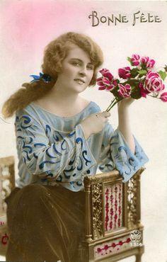 TINTED POSTCARDS | Photo Postcards and Vintage Ladies