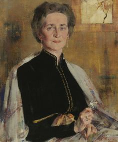 The Athenaeum - Portrait of Mrs. J.R. Williams (Nikolai Fechin - )