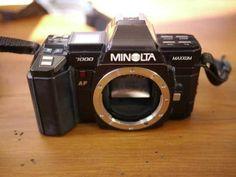 Minolta Maxxum 7000 SLR 35mm Film Camera Body w/ Bag Case Manual #Minolta