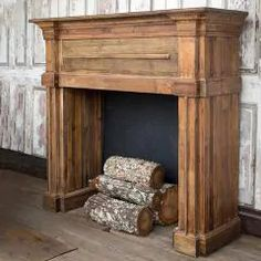 GNOME FOR THE HOLIDAYS - Shop Sales Events Antique Farmhouse Reclaimed Wood Fireplace, Faux Fireplace Mantels, Wood Mantels, Rustic Fireplaces, Fireplace Wall, Fireplace Surrounds, Fireplace Design, Faux Mantle, Decorative Fireplace