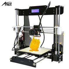 Reprap prusa i3 auto nivel a8 a8 y normal tamaño grande 220*220*240mm Kit de Impresora 3D con Filamento + 8G Tarjeta SD de Vídeo + Herramientas