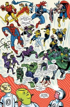 Laying out the rules for superhero colors in comics: Primary colors for heroes (red, blue, yellow) and secondary colors for villains (green, purple, orange) : Design