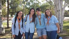 members of the Guide Association of Aragon, Spain (AGA) Girl Scout Uniform, Spanish Girls, World Thinking Day, Brownie Girl Scouts, Aragon, Girl Guides, Aga, Brownies, Rain Jacket