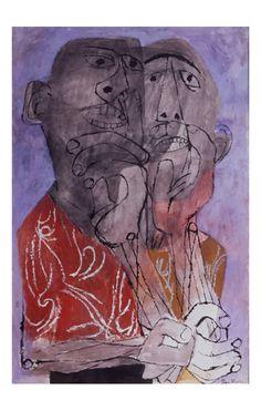 tempera at ArtLex Walker Evans, Art For Change, Modern Art, Contemporary Art, Ben Shahn, San Francisco Museums, Portrait Art, Portraits, Jewish Art