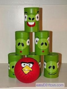 DIY Handmade Baby Toys : DIY Homemade Angry Birds toy set