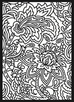 From Paisley Designs Stained Glass Coloring Book Dover Publications